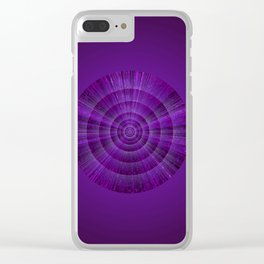 Magical Mystery Purple Shimmering Object Clear iPhone Case