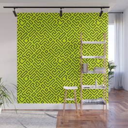 Yellow Geometric Shapes Wall Mural