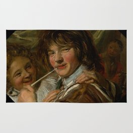 "Frans Hals ""The smoker"" Rug"