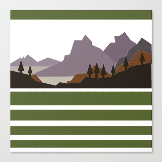 Rough Mountains Canvas Print