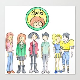 Daria and Friends Canvas Print