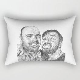 Karl Pilkington - Ricky Gervais, we need more of them! Rectangular Pillow
