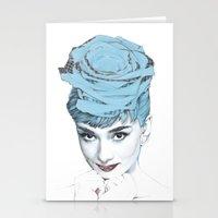 audrey Stationery Cards featuring Audrey by Susana Miranda ilustración