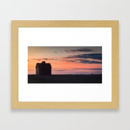 Beautiful Sunset - Old Barn Pictures  Framed Art Print