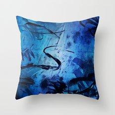 Blue Play Throw Pillow
