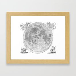 Hevelius' Selenographia - Map of the Moon 1647 Framed Art Print