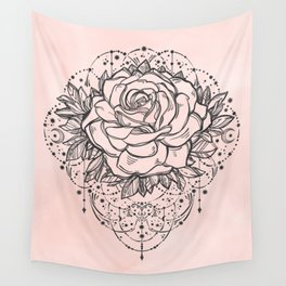 Night Rose Wall Tapestry