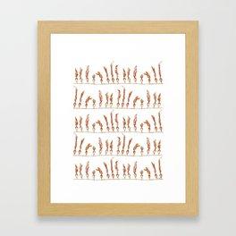Seaweed Stripes Framed Art Print