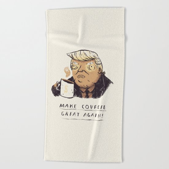 make covfefe great again! trump print Beach Towel