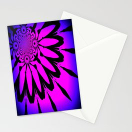 The Modern Flower Fuchsia Purple Ombre Stationery Cards