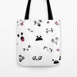 Doodle Faces Tote Bag