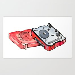 USB Turntable Art Print