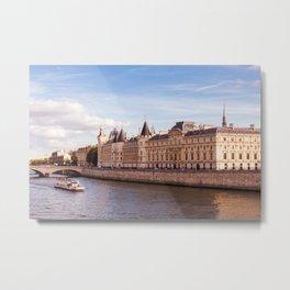 Paris Seine River Metal Print
