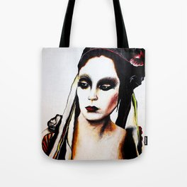 With Flowers in Her Hair Tote Bag
