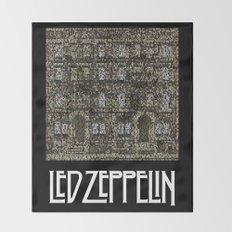 Physical Graffiti. Zeppelin lyrics print. Throw Blanket