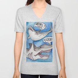 Shark Tickles Unisex V-Neck