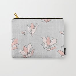 Modern Blossoms Abstract Pattern Carry-All Pouch