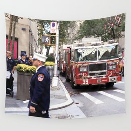 The Fire Dept of New York at 30 Rock Wall Tapestry