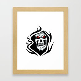 Skull tribal tattoo Framed Art Print