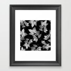 Elegant Leaves Framed Art Print
