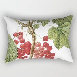 Botanical Print, Red Currant, Ribes Rubrum Rectangular Pillow