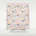 Summer BBQ Pattern - Blue Red Yellow by latheandquill