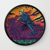 doom Wall Clocks featuring DOOM RIDER by alexis ziritt