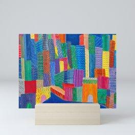 Blue Bluedlings Mini Art Print