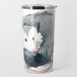 Possum and Oak Leaves Travel Mug
