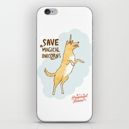 Save The Magical Unicorns by Alice Rutherford iPhone Skin