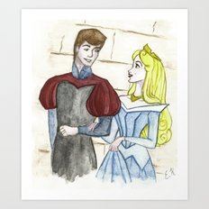 Prince and princess Art Print