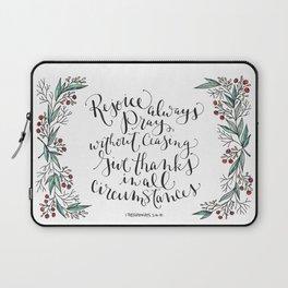 Rejoice Always Laptop Sleeve