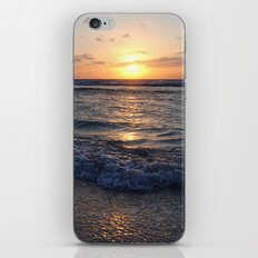 sunrise over the ocean iPhone Skin