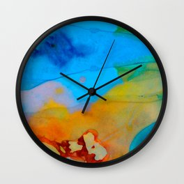 The Right Path - Colorful Abstract Art By Sharon Cummings Wall Clock