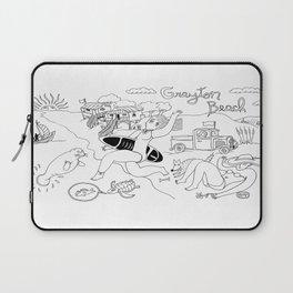 Grayton Beach Florida Funny Line Drawing Laptop Sleeve