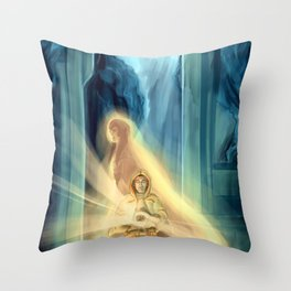 He Who Has Brought Us To The End Throw Pillow