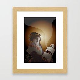 The Faceless Ghost_dark Framed Art Print