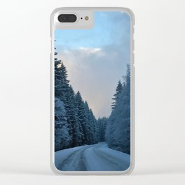 Snowy Tillamook Forest Clear iPhone Case