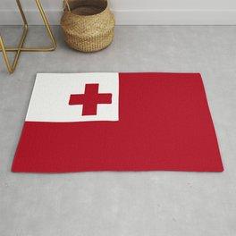 Tonga flag emblem Rug
