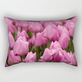 I believe in pink Rectangular Pillow
