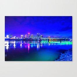 Little Rock Skyline Canvas Print