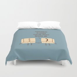Happy Smile Keyboard Buttons Duvet Cover