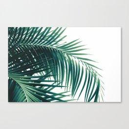 Palm Leaves Green Vibes #6 #tropical #decor #art #society6 Canvas Print