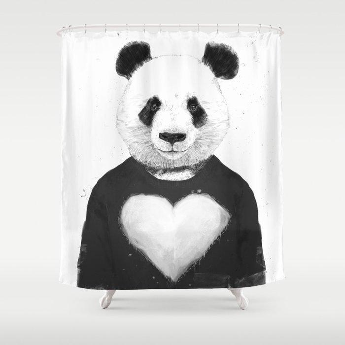 Lovely Panda Shower Curtain
