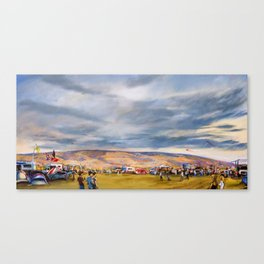 Camping at the Gorge Canvas Print