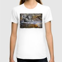 snow leopard T-shirts featuring Snow Leopard by Jennifer Rose Cotts Photography