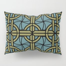 Stained Glass - Teal and Tan Pillow Sham