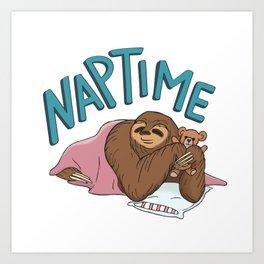 Nap Time Sloth Art Print