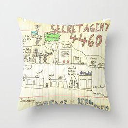 Max Morrocco: Issue 1 Throw Pillow