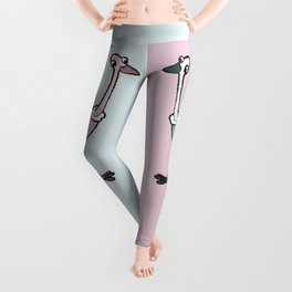 Dueling Ostriches Leggings